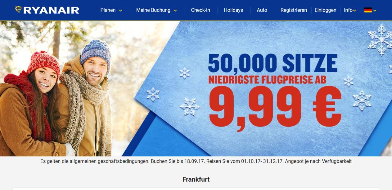 Günstige Flüge zu Weihnachten ab 4,99€ 1
