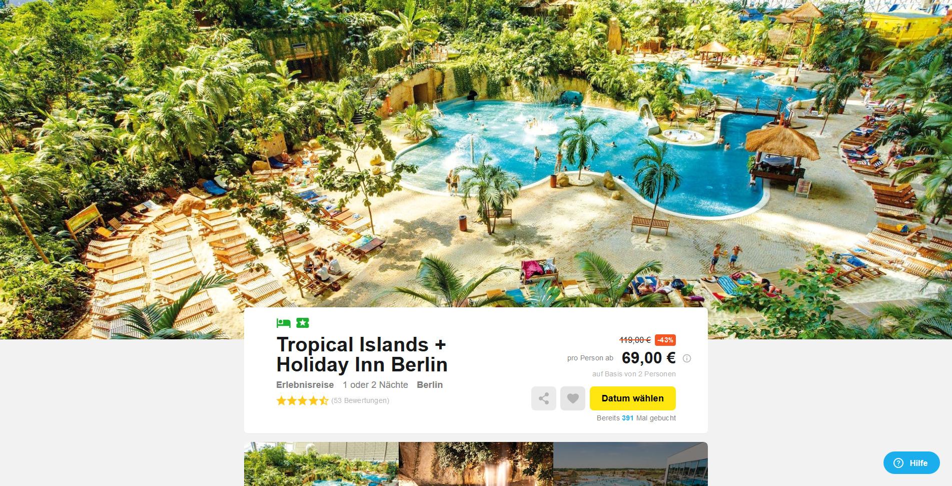 tropical islands 4 sterne hotels in holiday inn berlin. Black Bedroom Furniture Sets. Home Design Ideas