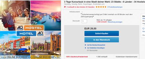 Kurzurlaub Deal-Screenshot