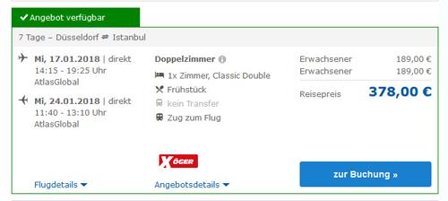 Deal-Screenshot - billig nach Istanbul Reisen