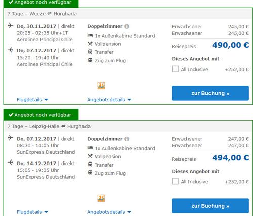 Nilkreuzfahrt Deal Screenshot
