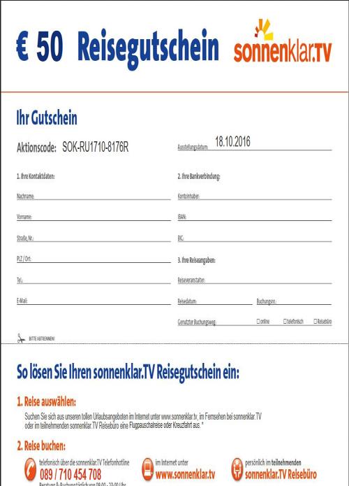 Reisegutschein 50€