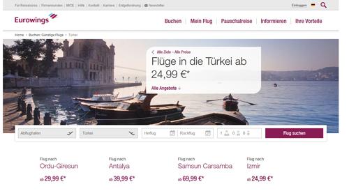 Billigflüge in die Türkei  ab 24,99euro 1