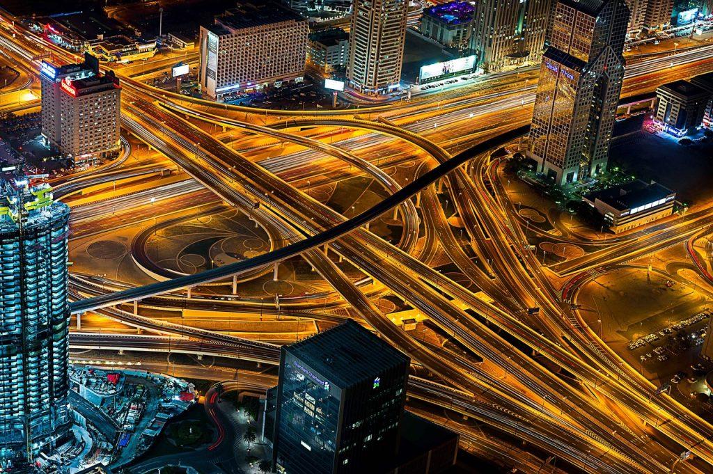 Straßenverkehr Dubai