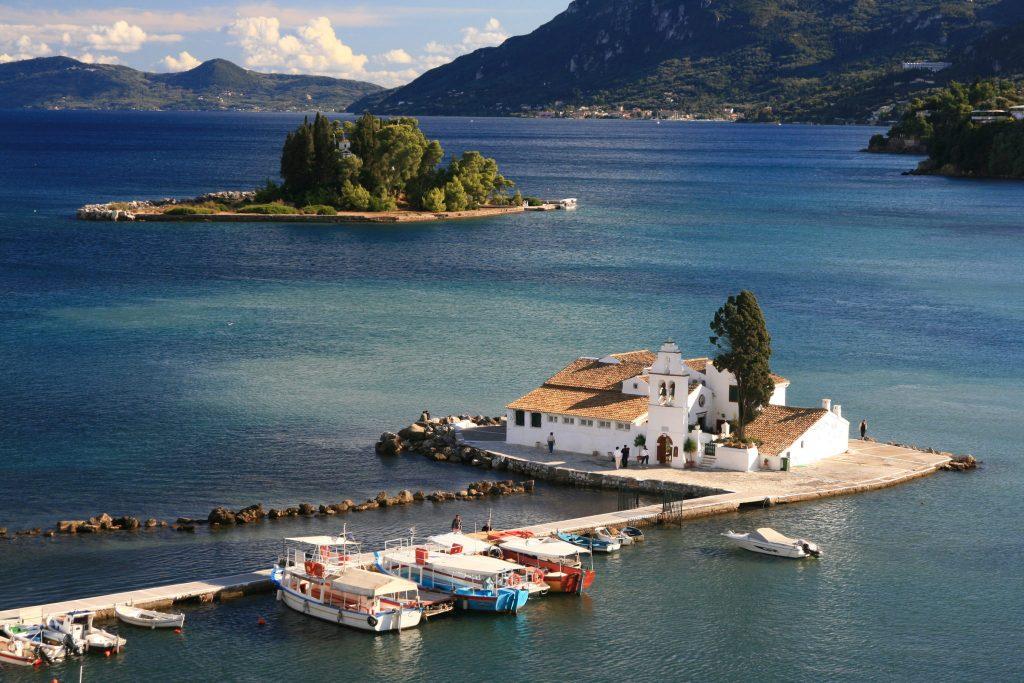 Vlacherna Kloster und Mäuseinsel auf Korfu