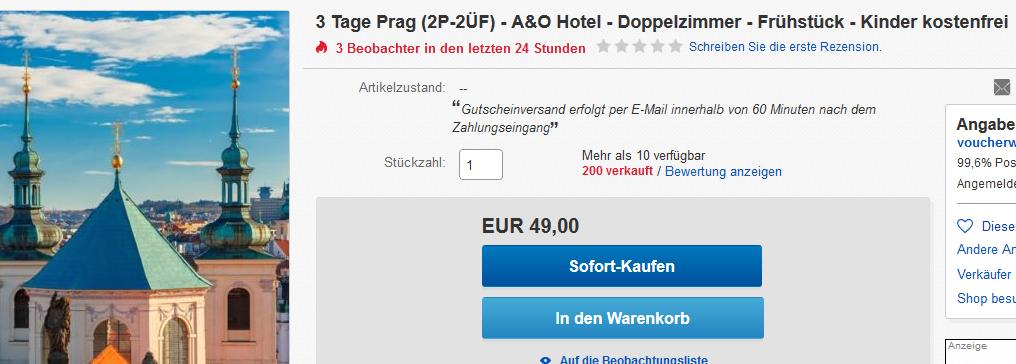 Screenshot Angebot