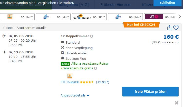 1 Woche Marroko Hotel & Transfer ab 80,00€ pro Person