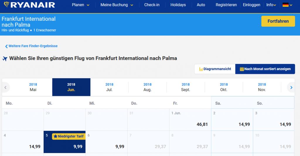 Flüge nach Palma ab 9,99€