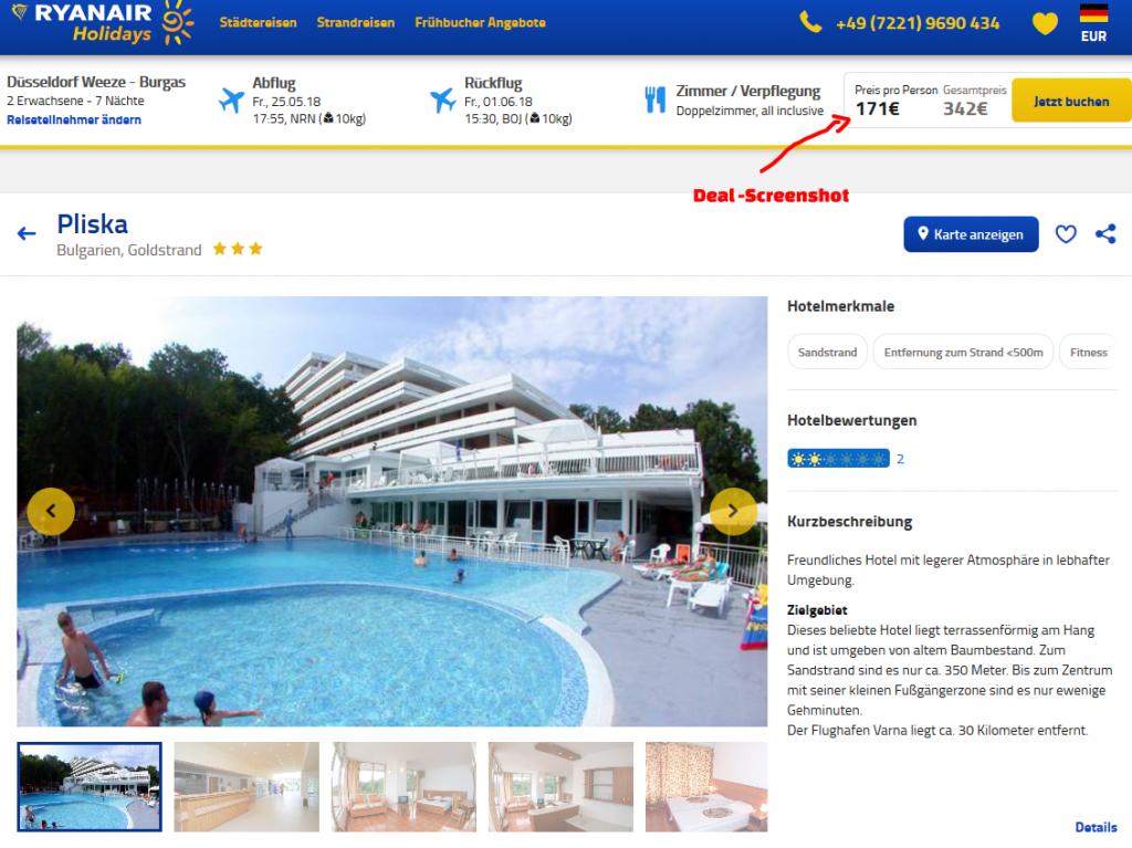 Deal Screenshot - Bulgarien Goldstrand All Inclusive