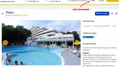 Deal Screenshot - Bulgarien Goldstrand All Inclusive