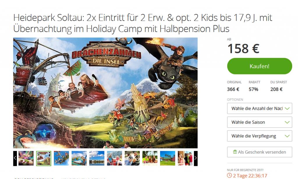 Heidepark Soltau Angebote -Deal Screenshot