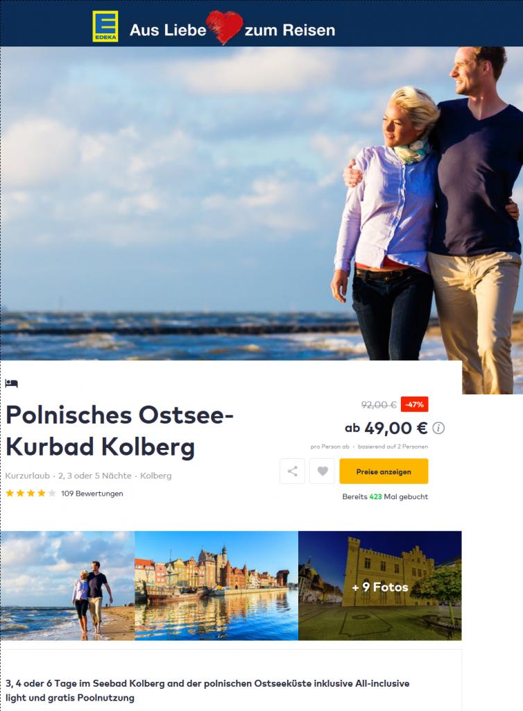 Deal Screenshot - urlaub polnische ostsee eigene anreise