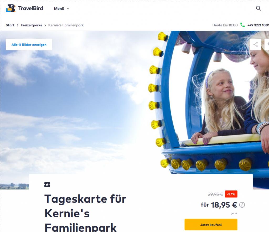 Deal Screenshot – Kernie's Familienpark