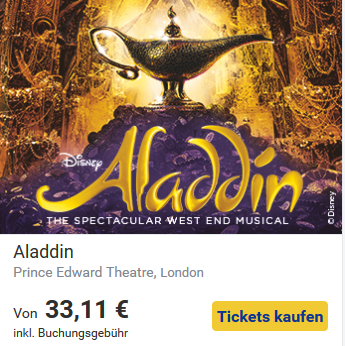 Kultur in London- Aladdin
