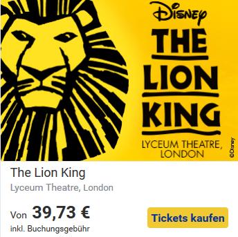 Kultur in London-König der Löwen
