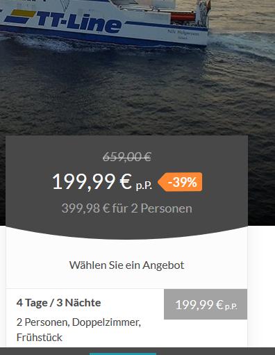Screenshot Minikreuzfahrt