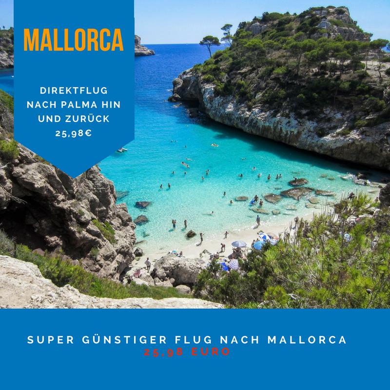 Super günstiger Flug nach Palma de Mallorca