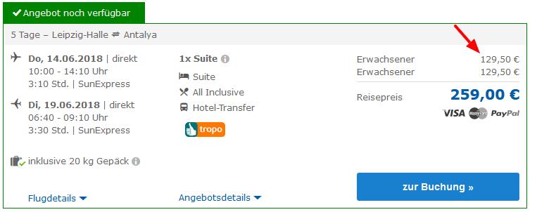 Deal Screenshot - Urlaub Türkei Side All Inclusive