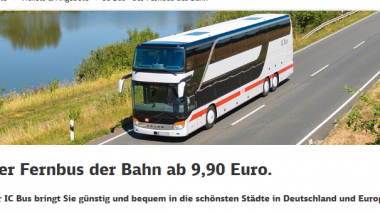 Durch Europa mit dem IC BUS ab 9,99€