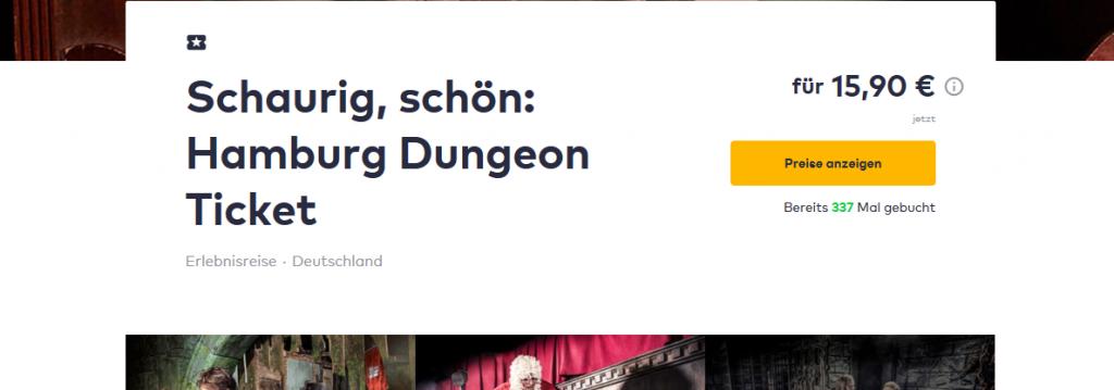 Screenshot Deal Schaurig schön Hamburg Dungeon Ticket