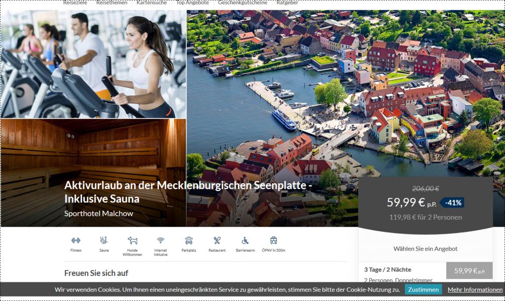 Screenshot Deal -Seenplatte Hotels