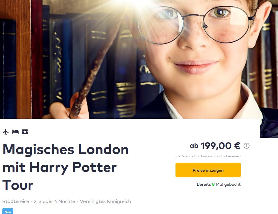 Screenshot Deal Muggeltour London