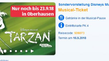 Tarzan Musical Angebote in Oberhausen ab 49,90€ 1