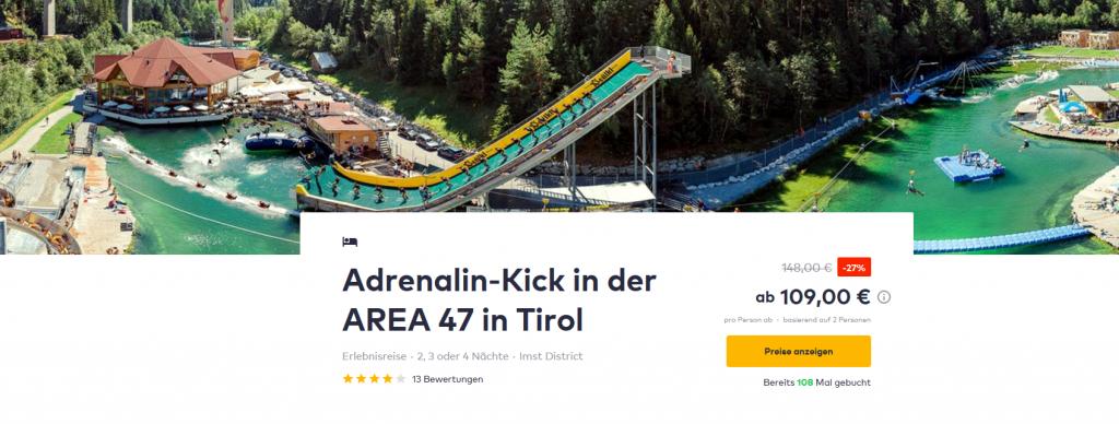 Screenshot Deal Aquapark Österreich Area 47