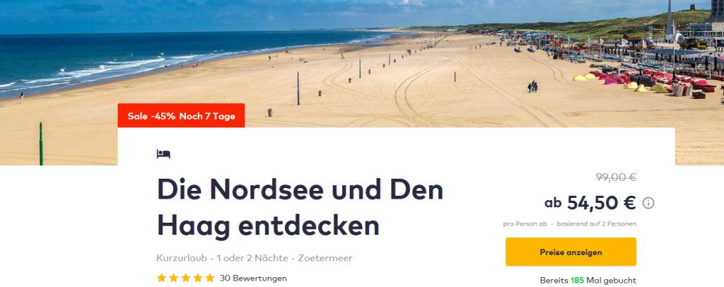 Screenshot Deal Nordsee Den Haag Strand