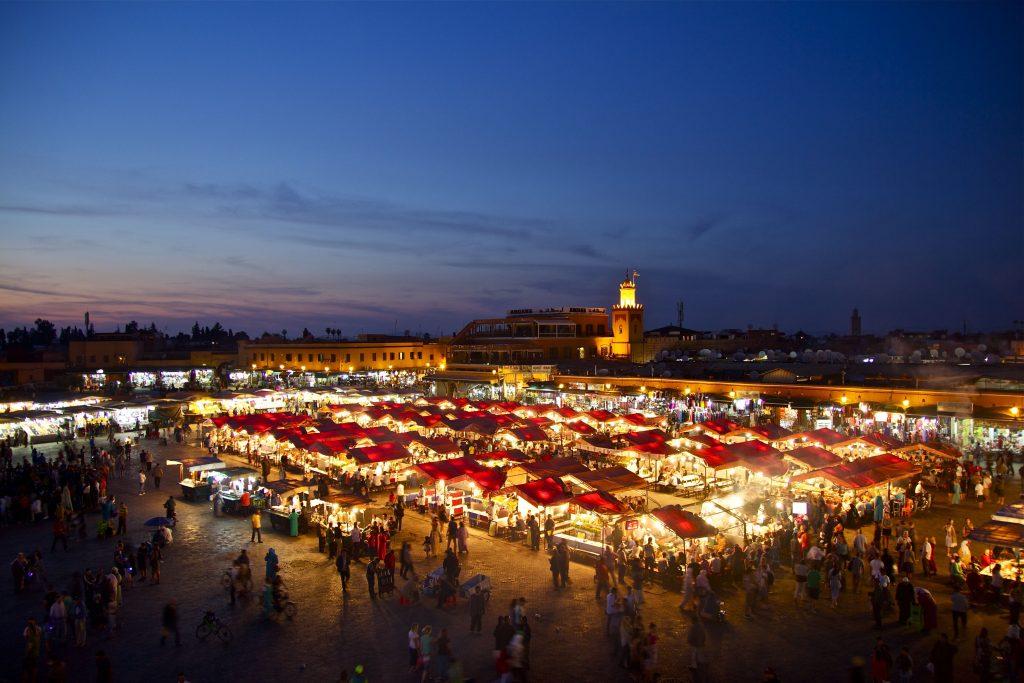 Der Basar Medina von Marrakesch