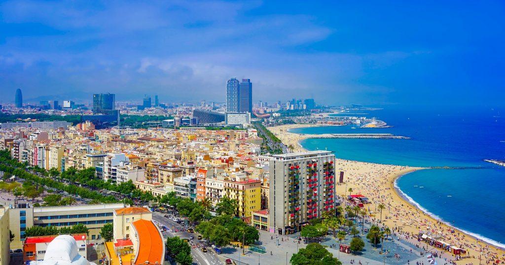 Bilder: Blick auf die Stadt Barcelona