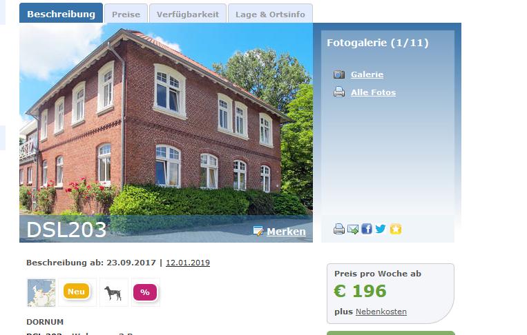 Screenshot Deal - Eine Woche Nordsee ab 98,00€ pro Person