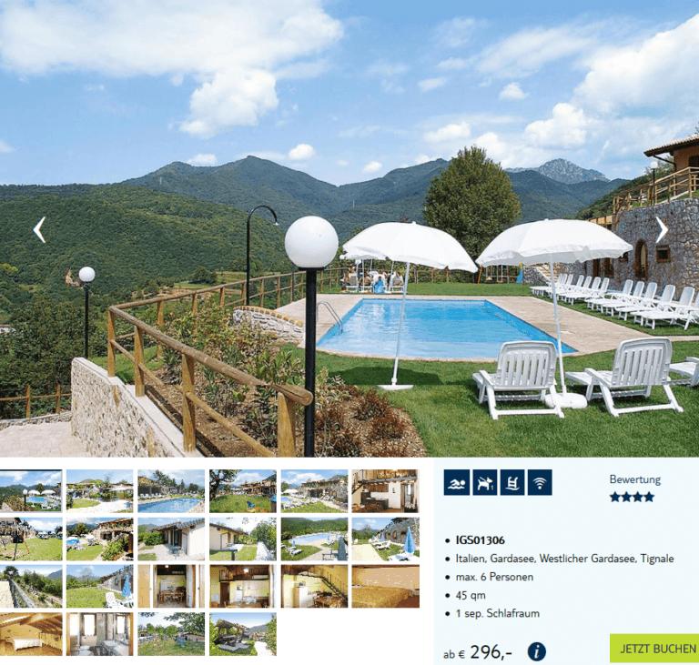 Deal-screenshot - Ferienwohnung am Gardasee eigene anreise