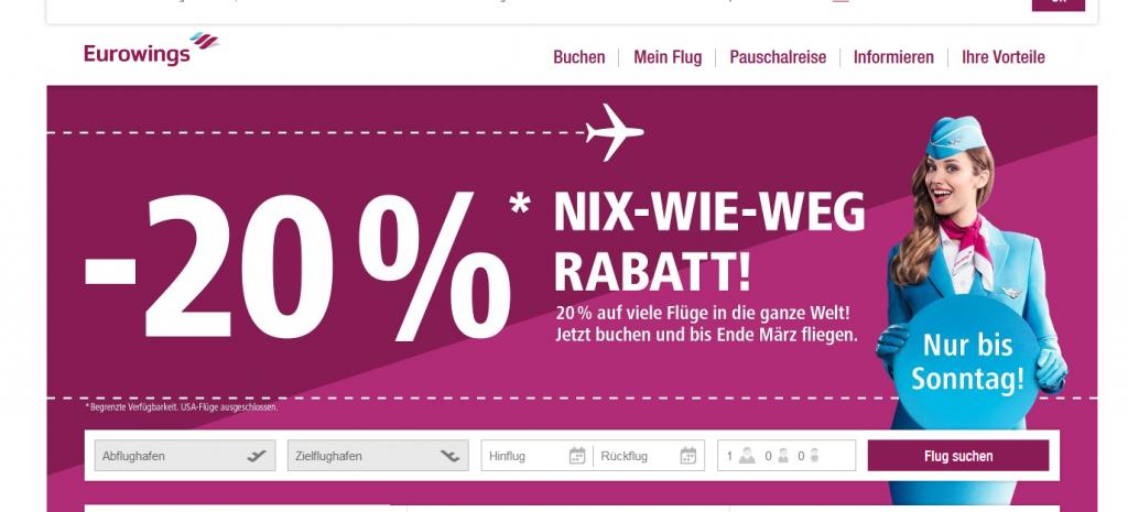 Deal Screenshot - Fliegen und sparen  Günstige Flüge online buchen