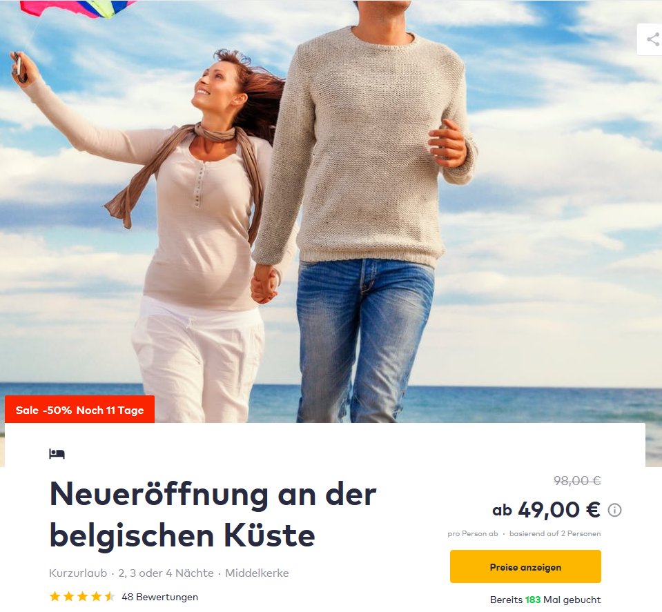 Deal-Scranshoot - Ibis Budget Oostende Airport Middelkerke TravelBird
