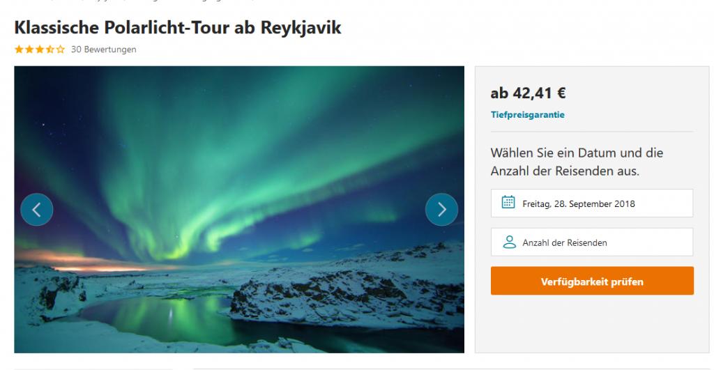 Klassische Polarlicht Tour ab Reykjavik 2018
