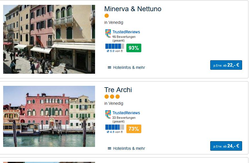 Deal-Screenshot Nur Hotel venedig
