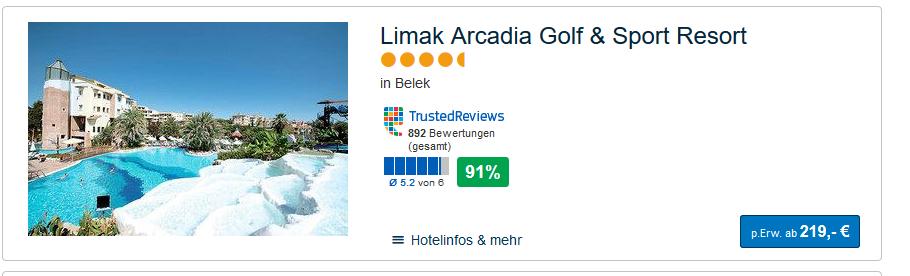Screenshot Deal Antalya Belek All Inclusive