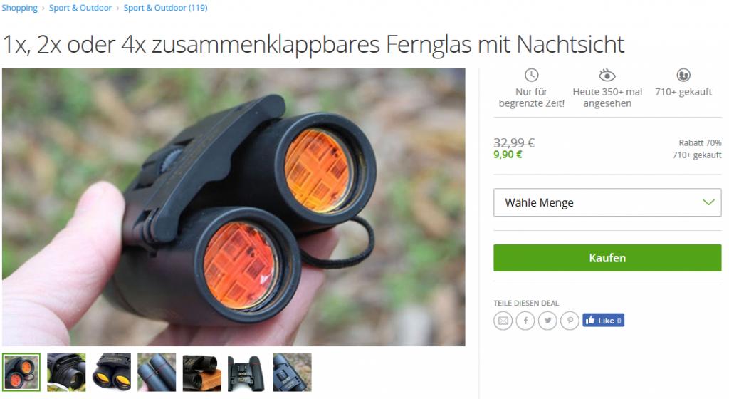 Screenshot Deal- Fernglas mit Nachtsicht