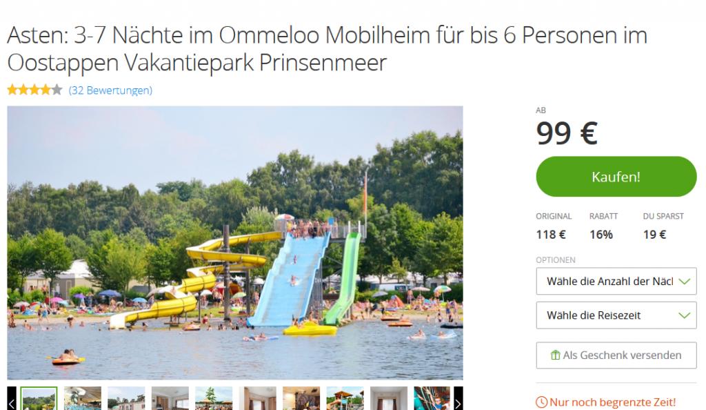 Screenshot Deal - Günstiger Familienurlaub in Oostappen Vakantiepark