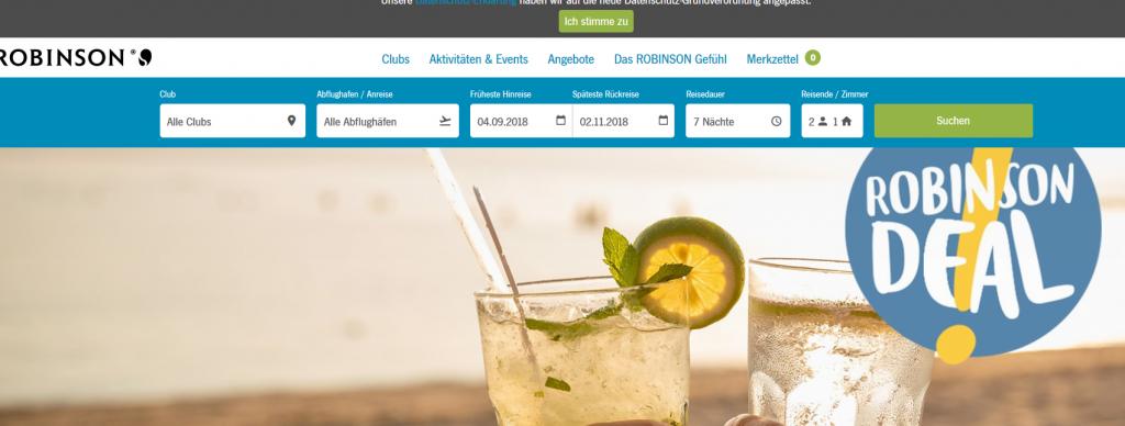 Screenshot Deal-Gutschein für Reisen