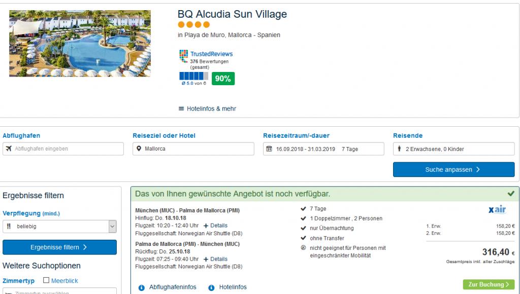 Screenshot-Deal- Playa de Muro