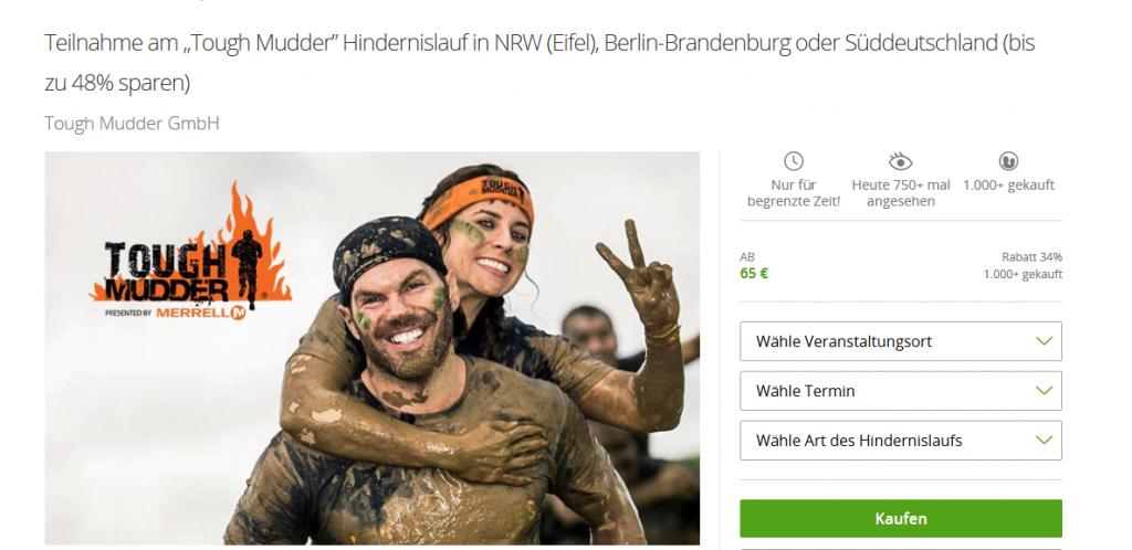 Screenshot Deal- Tough Mudder