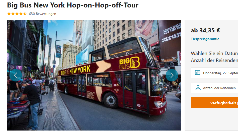 Screenshot Hop-on-Hop-off Tour New York