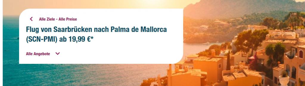 Screenshot Mallorca Flug
