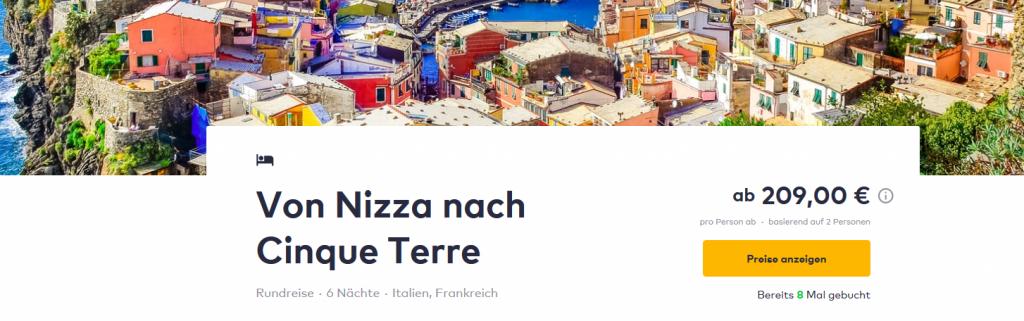 Screenshot Roadtrip von Nizza bis Cinque Terre