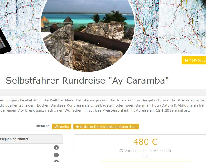 Deal-Screenshot-Selbstfahrer Rundreise Ay Caramba