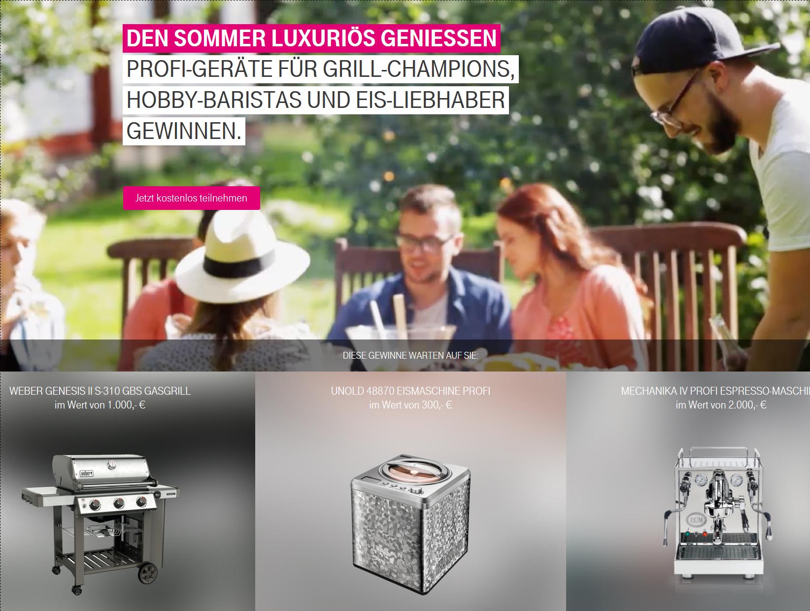 Sommerfete Gewinnspiel Telekom