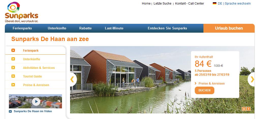 Sunparks De Haan aan Zee in Belgien Urlaub im Ferienpark