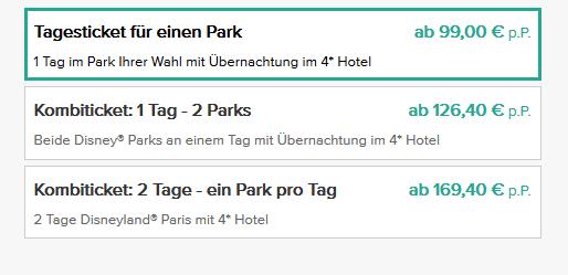 Screenshot Deal 1-2 Nächte Disneyland Paris Nacht im 4 Sterne Hotel